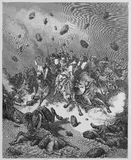 The army of the Amorites Is destroyed Stock Photo