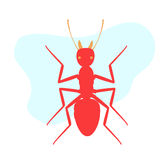Army Ant. Creepy Army Ant Insect Vector Illustration royalty free illustration