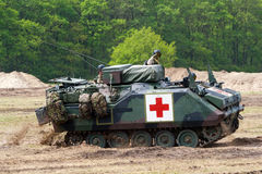 Army armoured personnel carrier. HAVELTE, THE NETHERLANDS - MAY 29: Dutch Army armoured personnel carrier in an Power demonstration at the Dutch Army Days on May Stock Images
