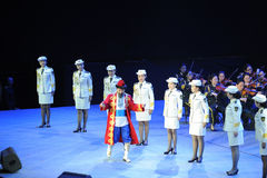 The army art troupe and Xinjiang folk hand Gala-theFamous and classicconcert Royalty Free Stock Photos