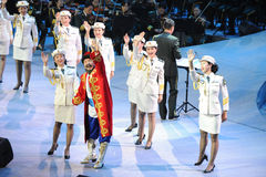 The army art troupe and Xinjiang folk hand Gala-theFamous and classicconcert Stock Photography