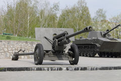 Army artillery cannon. Aggression aiming armament army bomb cannon danger decisions desert royalty free stock photo