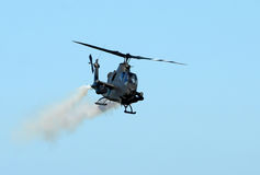 Army attack helicopter Stock Image