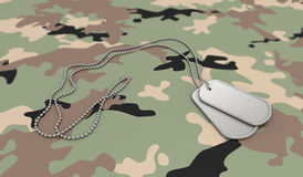 Army Background Dog Tags Royalty Free Stock Images