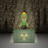 Army background with nuclear weapon Royalty Free Stock Photos