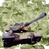 Army background with tank. Apparel print. Vector Royalty Free Stock Photos