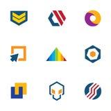 Army badge stripes game developer community computer logo icon set Stock Photography