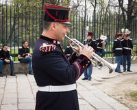 Army bandsman at the oath ceremony Royalty Free Stock Images