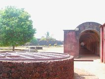Army Barrack and Historic Water Dug Well at St. Angelo`s Fort, Kannur, Kerala, India... Stock Image