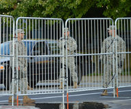 Army Barricades During the 2016 RNC in Cleveland Royalty Free Stock Photography