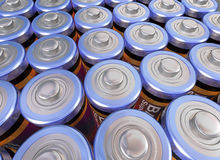 Army of batteries Royalty Free Stock Photos