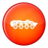Army battle tank icon, flat style Stock Photography