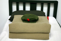 Army bed Royalty Free Stock Photos