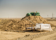 Army Beds in Iraqi desert Royalty Free Stock Images