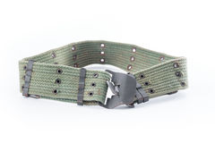 Army belt on white background Stock Photography