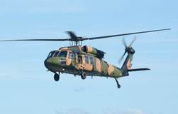 Army Blackhawk Chopper. Australian Army Blackhawk chopper flies by Royalty Free Stock Photography