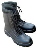 Army Boots. Close up of Army Boots Royalty Free Stock Photos