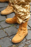 Army boots Royalty Free Stock Photo