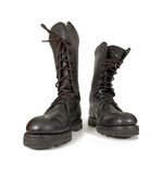 Army boots Royalty Free Stock Images