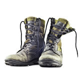 Army boots royalty free stock image