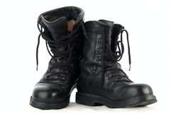 Army Boots. Old german army boots Royalty Free Stock Image