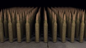 Army of bullets Stock Images