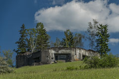 Army bunker near Stare Mesto town. In spring sunny day Royalty Free Stock Images