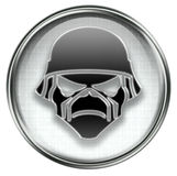 Army button grey Stock Images