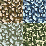 Army camouflage, hunter, combat camo vector seamless patterns set Stock Photos
