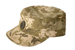 Army camouflaged cap Stock Photos
