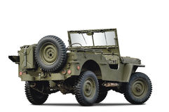 Army car. Isolated on white background Stock Photos