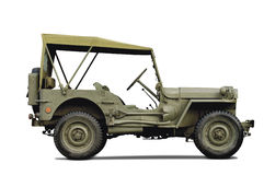 Army car. Isolated on white background Royalty Free Stock Photo