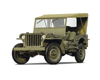 Army car. Isolated on white background Royalty Free Stock Image