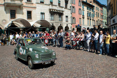 Army car at Mille Miglia 2015 Royalty Free Stock Photos