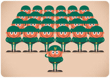 Army. Cartoon army. No transparency and gradients used stock illustration