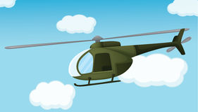 Army chopper. Illlustration of an army helicopter Royalty Free Stock Photography