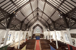 Army church interior. Wide angle shot of army church interior Stock Image