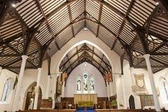 Army church interior. Wide angle shot of army church interior Stock Photo