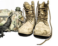 Army combat boots Royalty Free Stock Images