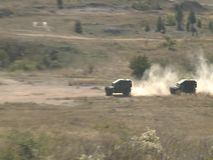 Army during the combat. Special units of military and police in war combat action stock footage
