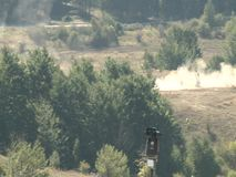 Army during the combat. Special units of military and police in war combat action stock video