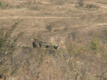 Army during the combat. Special units of military and police in war combat action stock video footage