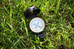 Army compas on the grass Royalty Free Stock Photos
