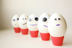 Army concept of unity. Eggs Royalty Free Stock Photo