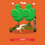 Army concept vector illustration in flat style. Stock Image