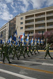 army day flags greek independence parade Στοκ Εικόνες