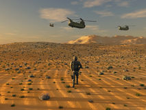 Army in desert Royalty Free Stock Photos