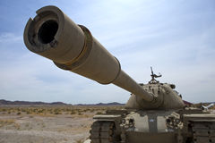 Army desert tank. Army tank on display in the desert Royalty Free Stock Photography