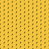 Yellow and Black Seamless Pattern royalty free illustration