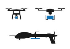 Army drones. On a white background Royalty Free Stock Images